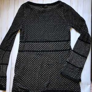 White House Black Market Metallic Sweater Small